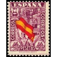 ES812STV-LTV***812STAN.Spain.Esgane .JUNTA DE LA DEFENSA.Bandera Y Catedral De MALAGA.1936/7.(Ed 812**) - 1931-Hoy: 2ª República - ... Juan Carlos I