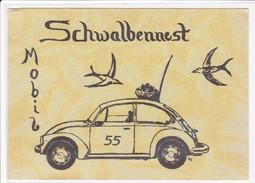 QSL Karte, CB Funk Station Schwalbennest Mobil 55,  VW Käfer, - CB-Funk