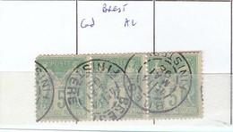 FINISTERE - S/106   Sage X 3  Oblit  CAD  A2  ( Brest ) - Marcophilie (Timbres Détachés)