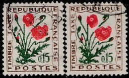 France Taxe 1964. ~ T 97 Par 2 - Fleur Des Champs : Coquelicot - Taxes