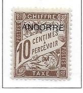 ANDORRE Taxe N°2 - Neuf *