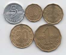 Uruguay : Série Complète De 5 Pièces 1976-1981 - Uruguay