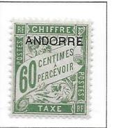 ANDORRE Taxe N°5 - Neuf *
