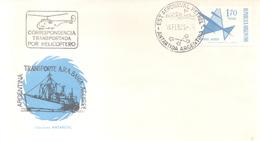 TRANSPORTE ARA BAHIA AGUIRRE CORRESPONDENCIA TRANSPORTADA EN HELICOPTERO  ANTARTIDA ARGENTINA  ESTACION AERONAVAL PETREL