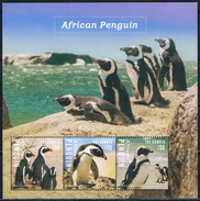 Bloc Sheet Oiseaux Penguins Pingouins  Birds Neuf  MNH ** Gambia Gambie 2014