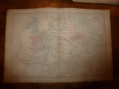 1861 Carte Géographique EUROPE  Pendant La Guerre De 30 Ans; Par Drioux Et Leroy ,gravure De Jenotte ,Librairie Bréhier - Geographical Maps