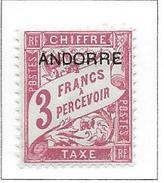 ANDORRE Taxe N°8 - Neuf *