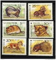 KAZAKHSTAN 1993, FAUNE DIVERSE, 6 Valeurs, Neufs / Mint. R217