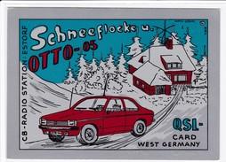 QSL Karte, CB Radio Funk Station Schneeflocke, OTTO 05, Estorf, West Germany, Opel Ascona ?, - CB-Funk