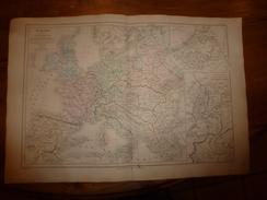 1861 Carte Géographique EUROPE 1715(lieux Historiques Sous Louis XIV);Supp PAYS-BAS & Hte ITALIE ;par Drioux Et Leroy , - Geographical Maps