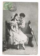 BELGIE  OUDE POSTKAART  VERLIEFDHEID 1906 - Saint-Valentin