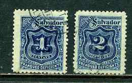 Salvador 1897 Y&T Taxe 17 18 ° - Salvador