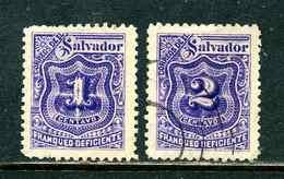 Salvador 1898 Y&T Taxe 25 26 ° - Salvador