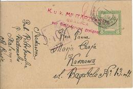 WARSZAWA - VARSOVIE K.u.K Militaire - Cachet Carré Violet 10 Fenygow - Poczta Miejska -Entier Autrichien Feldpost - ....-1919 Gouvernement Provisoire