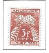 ANDORRE Taxe N°35 - Neuf *