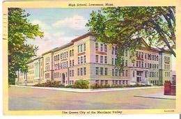 High School, Lawrence, Massachusetts The Queen City Of The Merrimac Valley - Lawrence
