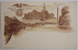 PRETORIA - Gouvernements Gebouw (eedragt Maakt Magt) - Apiesrivier - J H Bussy Amst Pretoria (début Du XXe Siècle) - South Africa