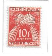 ANDORRE Taxe N°38 - Neuf *