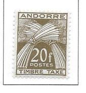 ANDORRE Taxe N°39 - Neuf *