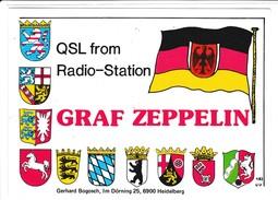 QSL Karte, CB Funk Station, Graf ZEPPELIN, Dörning, Heidelberg, West Germany, - CB-Funk