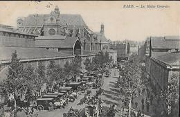 CARTE POSTALE ORIGINALE ANCIENNE : PARIS  (75)  LES HALLES CENTRALES BALTARD  TRES ANIMEE - Halles