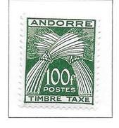 ANDORRE Taxe N°41 - Neuf *