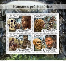Mozambico 2016, Prehistoric Men, Fossils, 4val In BF
