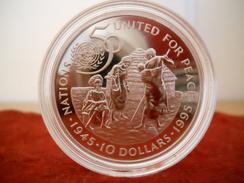 NAMIBIA 10 DOLLARS 1995 SILVER PROOF U.N. 50th Anniversary - Namibia