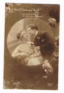 BELGIE  OUDE POSTKAART  VERLIEFDHEID LES YEUX DANS LES YEUX - Saint-Valentin