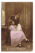 BELGIE  OUDE POSTKAART  VERLIEFDHEID  1918 - Saint-Valentin