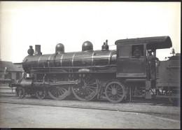 2 Grandes Photos Anciennes Format 29cmx21.5xm Et 28.5cmx20cm Des Machines De L'ETAT Amilly Moutiers - Trains