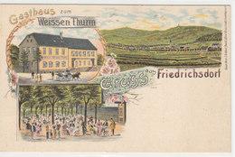 Gruss Aus Friedrichsdorf - Litho Mit Gasthaus Zum Weissen Thurm   (PA-14-120608) - Friedrichsdorf