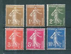 France Type Semeuse De 1932/37 N°277A A 279 Complet  Neuf ** - 1906-38 Semeuse Camée