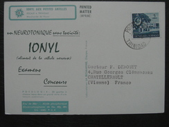 Trinidad Et Tobago - Carte Postale Tarif IMPRIME Publicité Marinol Ionyl Affranchissement Timbre