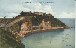 CP - 50 - Granville - Le Casino Et La Haute Ville - Granville