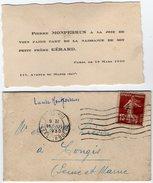 VP8007  - Faire - Part De Naissance De Gérard De MONPERRUS à PARIS - Naissance & Baptême