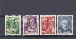 Suisse - Neufs**  -  Pro Juventute - Année 1933 - YT 267/270