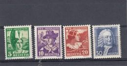 Suisse - Neufs**  -  Pro Juventute - Année 1934 - YT 278/281