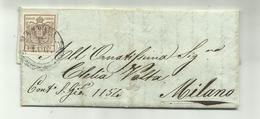 AS043-Lettera Da Mantova 13.7.1850 Per Milano Con 30 Cent. Stemma I Tipo - Lombardije-Venetië