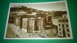 Napoli,piazza Badoglio E Palazzo Provincia,circolata,,1940-50,cartolina In Movimento - Napoli