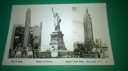 New York City,,R.C.A. Bldg.statue Of Liberty.empire State Bldg New York N.Y.4 ,,circolata,,1964,,cartolina - Statua Della Libertà
