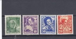 Suisse - Neufs**  -  Pro Juventute - Année 1936 - YT 298/301