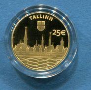 ESTONIA 25 € Euro GOLD COLLECTOR COIN 2017 - Hanseatic Tallinn - Estonie