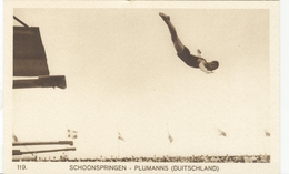 NETHERLANDS Unused Official Olympic Postcard Nr. 119 With Plumanns Germany High Diving