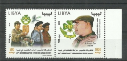 2014-Libya-The 60th Anniversary Of Founding Of The Libyan Scouts-Complete Set- 2 Stamps MNH** - Libya