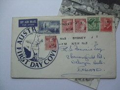 AUSTRALIA GEORGE VI AIR MAIL COVER - FOUNDATION OF THE COMMONWEALTH UNDATED SYDNEY NO.3 MARKS ILLUSTRATED FDC WITH PHOTO - 1937-52 George VI