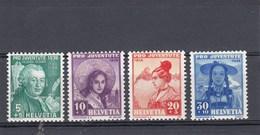 Suisse - Neufs**  -  Pro Juventute - Année 1938 - YT 316/319