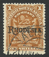 Rhodesia, British South Africa Company, 1 S. 1909, Sc # 92, Mi # 89, Used. - Great Britain (former Colonies & Protectorates)