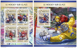 DJIBOUTI 2016 ** Ice Hockey Eishockey Hockey Sur Glace M/S+S/S - OFFICIAL ISSUE - A1704