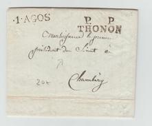 1835 - LETTRE Pour Le PRESIDENT DU SENAT A CHAMBERY En PORT PAYE De THONON (ETAT DE SAVOIE / SARDE) - 1801-1848: Precursors XIX
